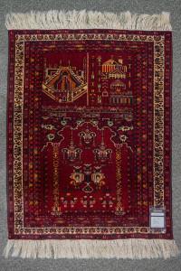 ca. 86x112cm, Gebetsteppich aus Afghanistan