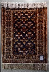 ca. 90x112cm Mauri, Kette aus Seide, Afghanistan