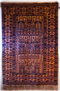 ca. 185x126cm Mauri, Kette aus Seide, Afghanistan
